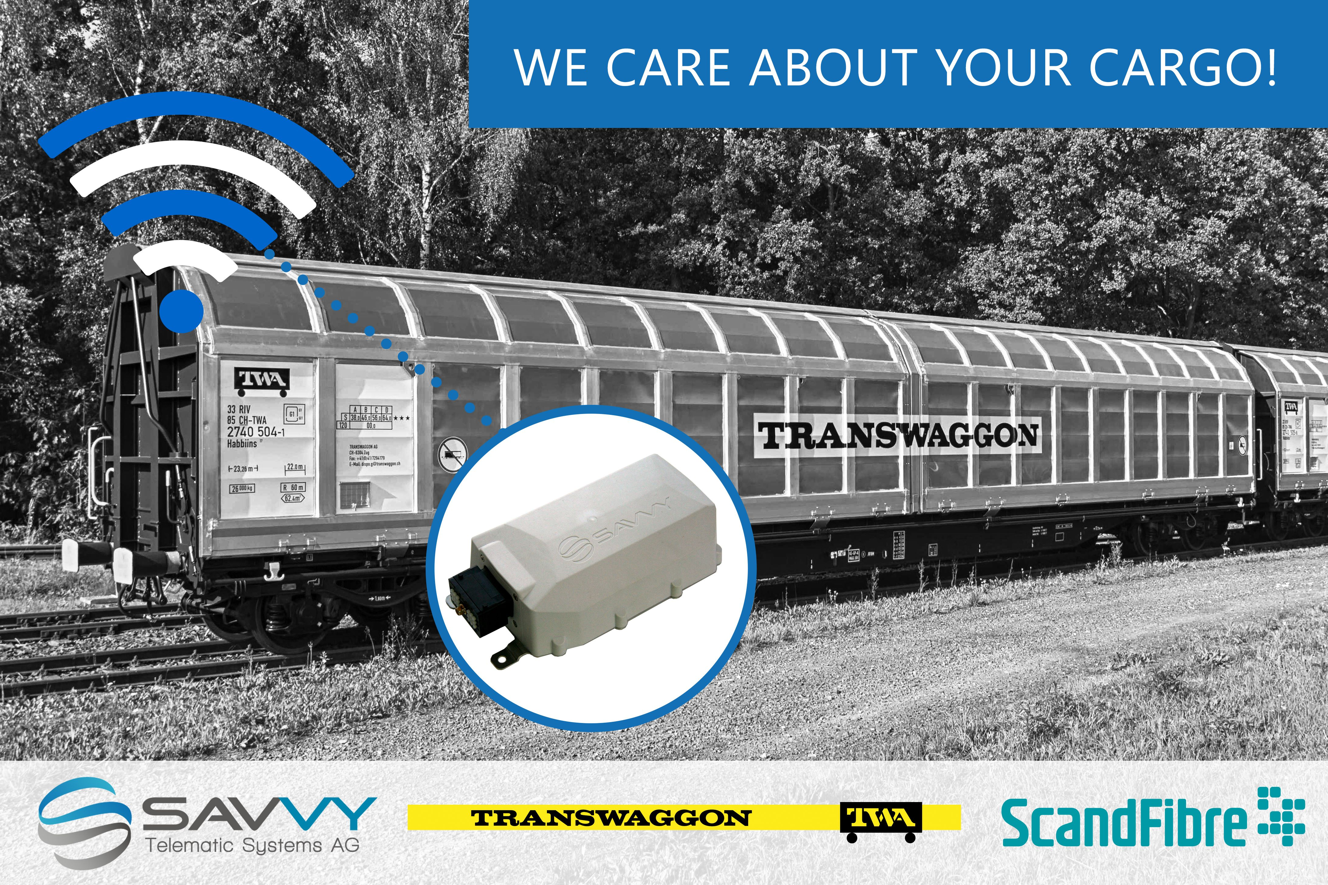 TWA and SFL equip 3,000 freight wagons with SAVVY